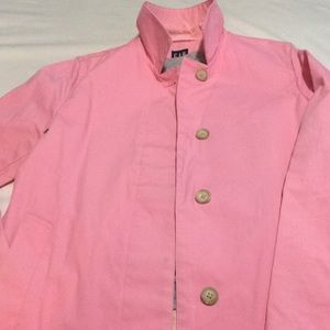 GAP PINK LINED TRENCH COAT